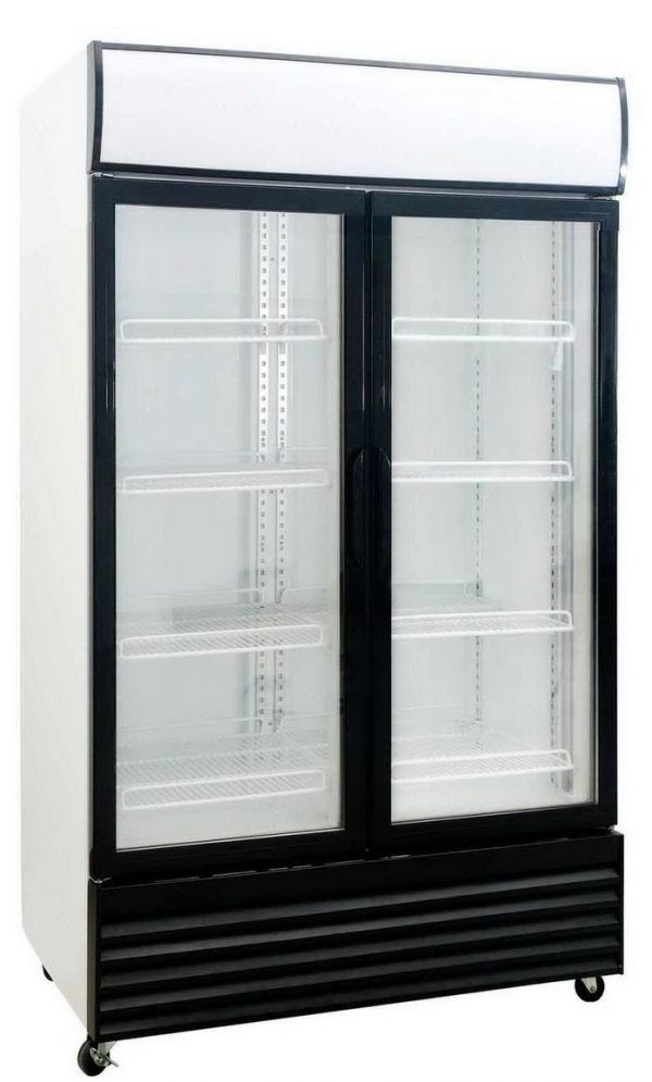 Saltas DFS1000 Double Glass Door Fridge